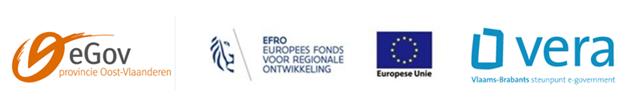 Logo provincie Oost-Vlaanderen, VERA, EFRO